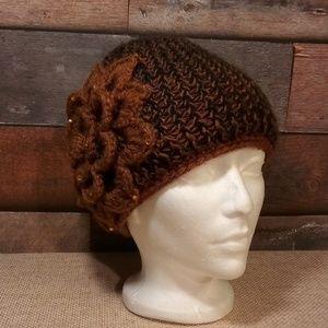 RESERVED New handmade thick crochet beanie hat